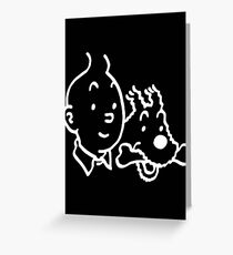 Tintin And Milou Merchandise Greeting Card