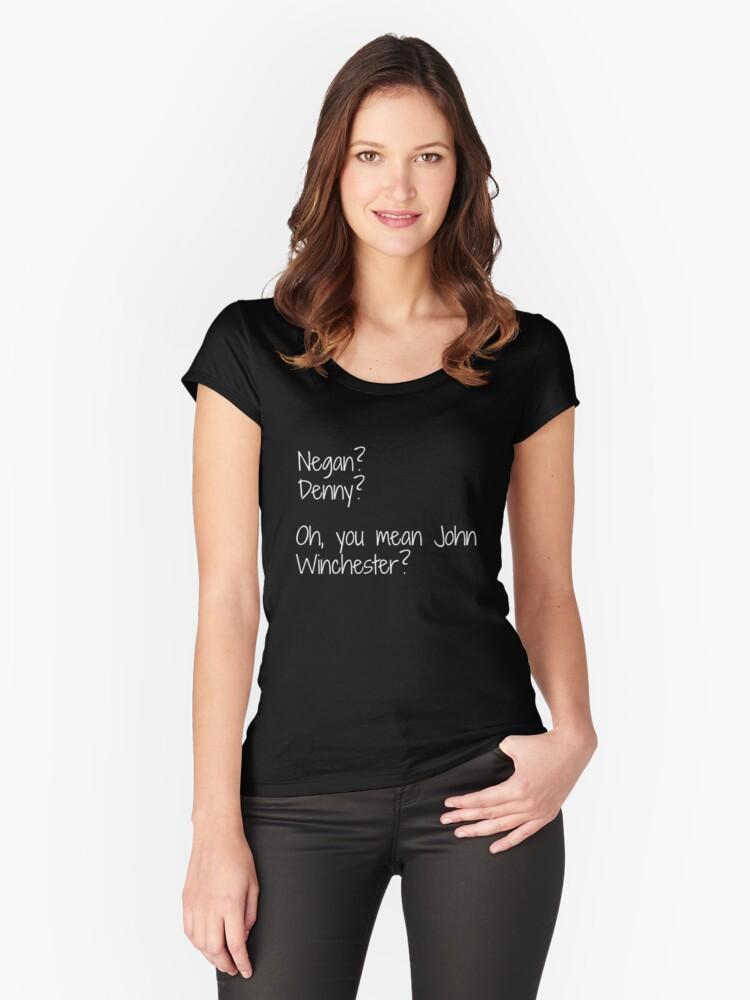 Camisetas entalladas de cuello redondo «Negan, Denny Duquette, guión ...