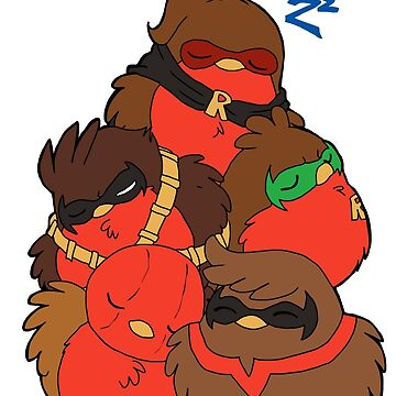 Go!Robins! - A pile of Robins by yolinart