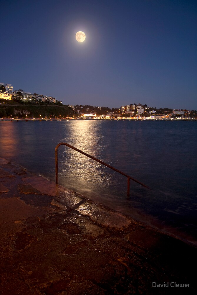 Torquay at night by David Clewer