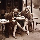 Vintage Paris Cafe by mindydidit