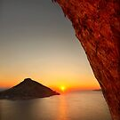 Sunset at the Grande Grotta - Kalymnos island by Hercules Milas