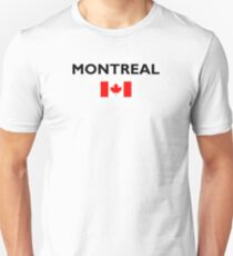 Montreal Canada Canadian Flag Color Light Unisex T-Shirt