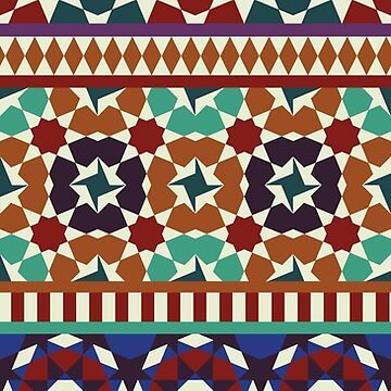 Alhambra Tessellations - red, blue and purple by Cecca-Designs