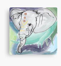 Tranquil Elephant Metal Print