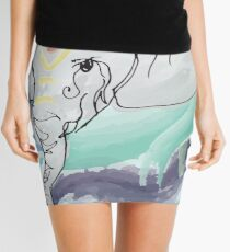 Tranquil Elephant Mini Skirt