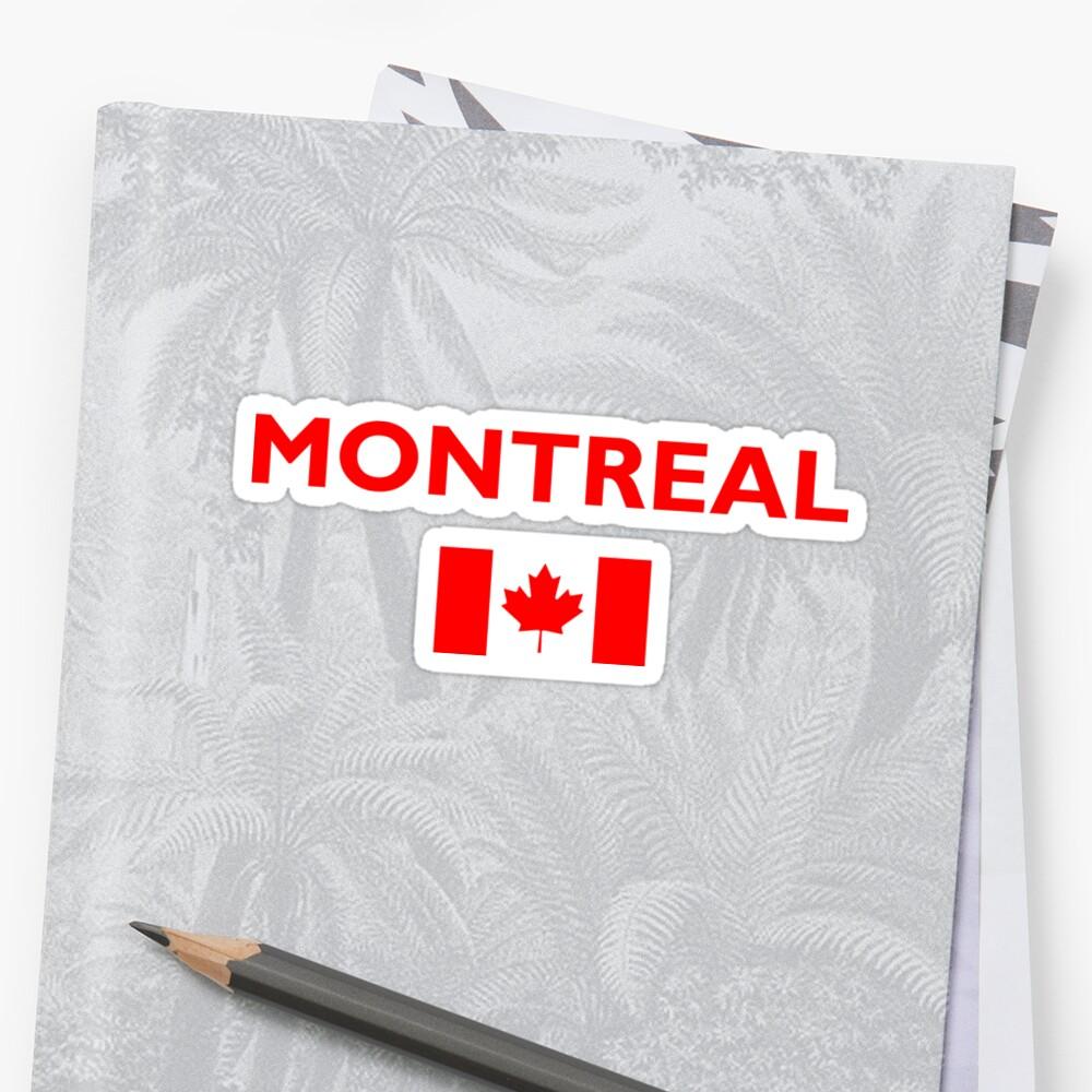 Montreal Canada Canadian Flag Color Dark by TinyStarCanada