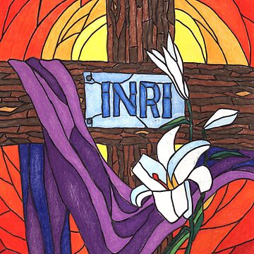 INRI Easter Stained Glass by PenguinLeaf