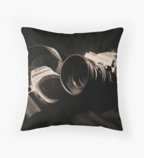 Canon and Nikkormat Throw Pillow