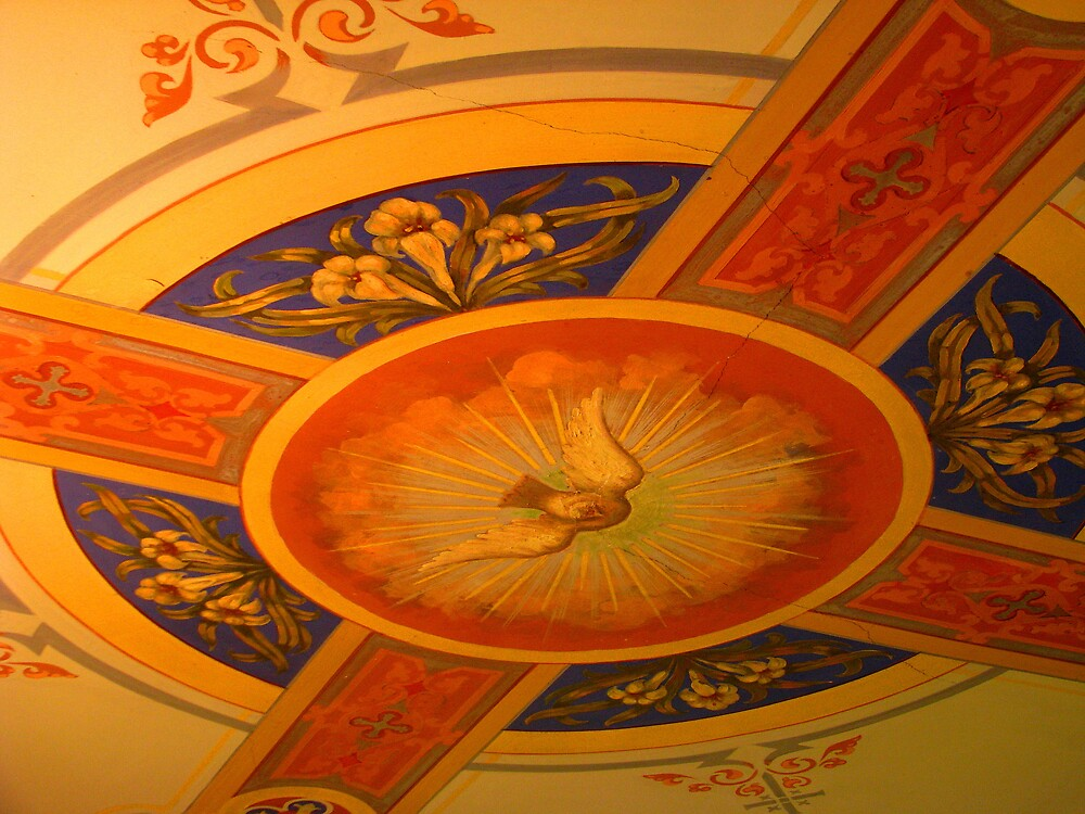 Hand painted ceiling by Patty Gross