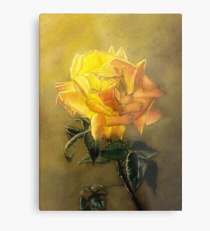 Fallen Rose Metal Print