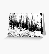 Stylized Winter Woodland artwork Places collection Greeting Card