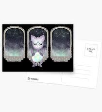 Mystic Miku | Crystal Ball & Zodiac | Black Postcards