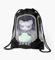 Mystic Miku | Crystal Ball & Zodiac | Black Drawstring Bag