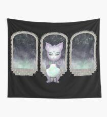 Mystic Miku | Crystal Ball & Zodiac | Black Wall Tapestry