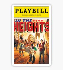 In the Heights Playbill Sticker