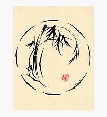 Celestial Bamboo - Enso Ink Brush Pen Bamboo Zen Painting Photographic Print