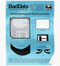 Bad Data: Assembly Instructions (Blue) Poster