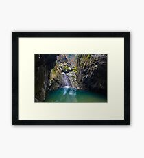 Canyon in mountains Framed Print