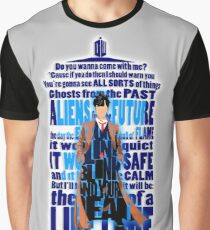 time traveller Quotes Typograph Graphic T-Shirt