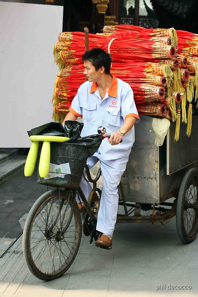 Chinese Bike Delivery by phil decocco