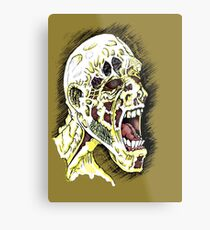 Screaming Zombie - Colourised Metal Print