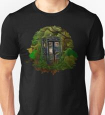 haunted public phone in the forest Unisex T-Shirt