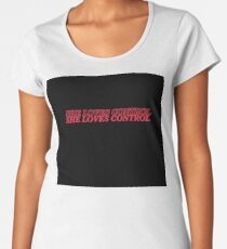 She Loves Control - Black/Red Women's Premium T-Shirt