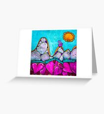 Breast Cancer Roller Coaster of Healing Greeting Card