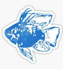 Balloon Blue Ram Block Print Sticker