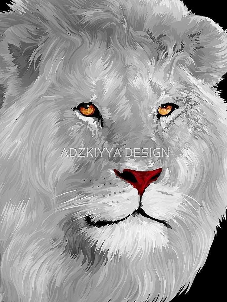 White albino lion by GreenLight08