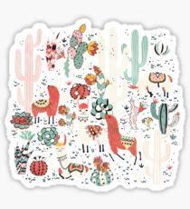 Lama in cactus jungles Sticker