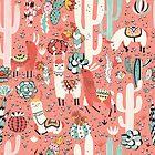 Lama in cactus jungles by Lidiebug