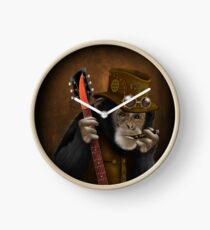 Rocker guitarist Smokin ape Clock