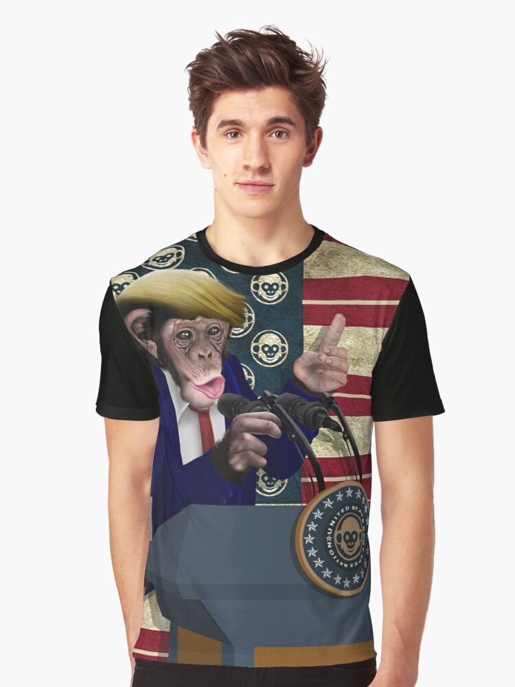 Leader of the apes Graphic T-Shirt Front