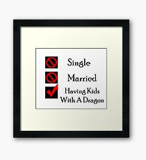Having Kids With A Dragon Framed Print
