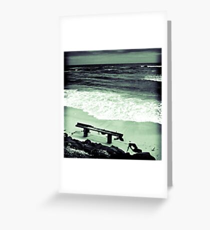 #1 B Seated Series - Get Beached Greeting Card