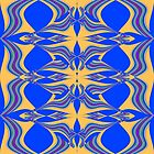 Yellow Blue Pattern by Vitta
