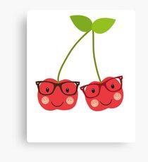 Nerdy Cherries Canvas Print