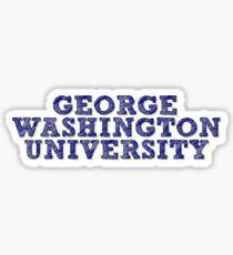 George Washington University Sticker