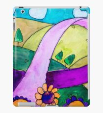 Ribbon of Support Highway for Breast Cancer iPad Case/Skin
