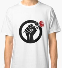 Democratic Socialist Fist With Red Rose Classic T-Shirt