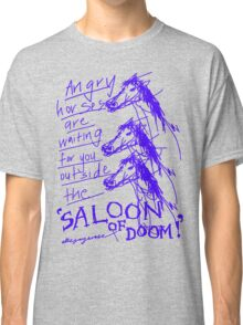 'Angry Horses Await' Classic T-Shirt