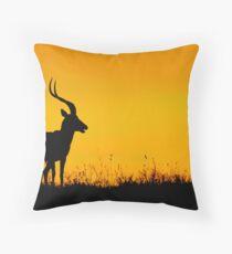 Orange Sunrise Early Morning Kenya Throw Pillow