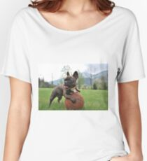 French bulldog to catch basketball Women's Relaxed Fit T-Shirt