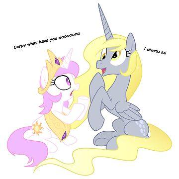 Derp Pony by DeviGod
