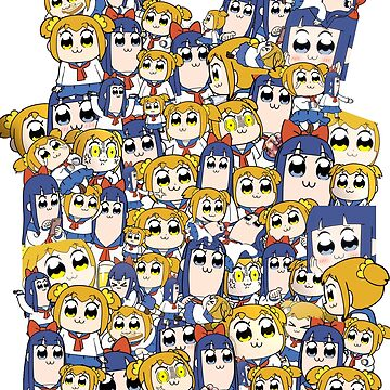 Pop Team Epic - Popuko & Pipimi Collage by jyeotoole