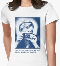 Grab your camera! Women's Fitted T-Shirt