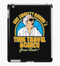 Time travel agency iPad Case/Skin