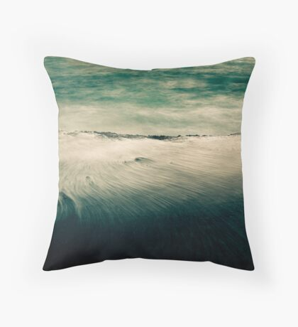 Flowing Into the Storm Throw Pillow